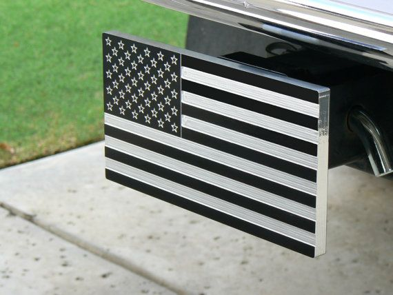 American Flag Billet Aluminum Trailer Hitch Cover 2 Quot Receiver Aluminum Trailer Metal American Flag Trailer Hitch