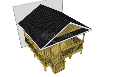 This 16 X 16 Porch Offers A Functional And Attractive Enclosed Space Under A Gable Roof The Hand Framed R Deck Plans Diy Free Deck Plans Deck Building Plans