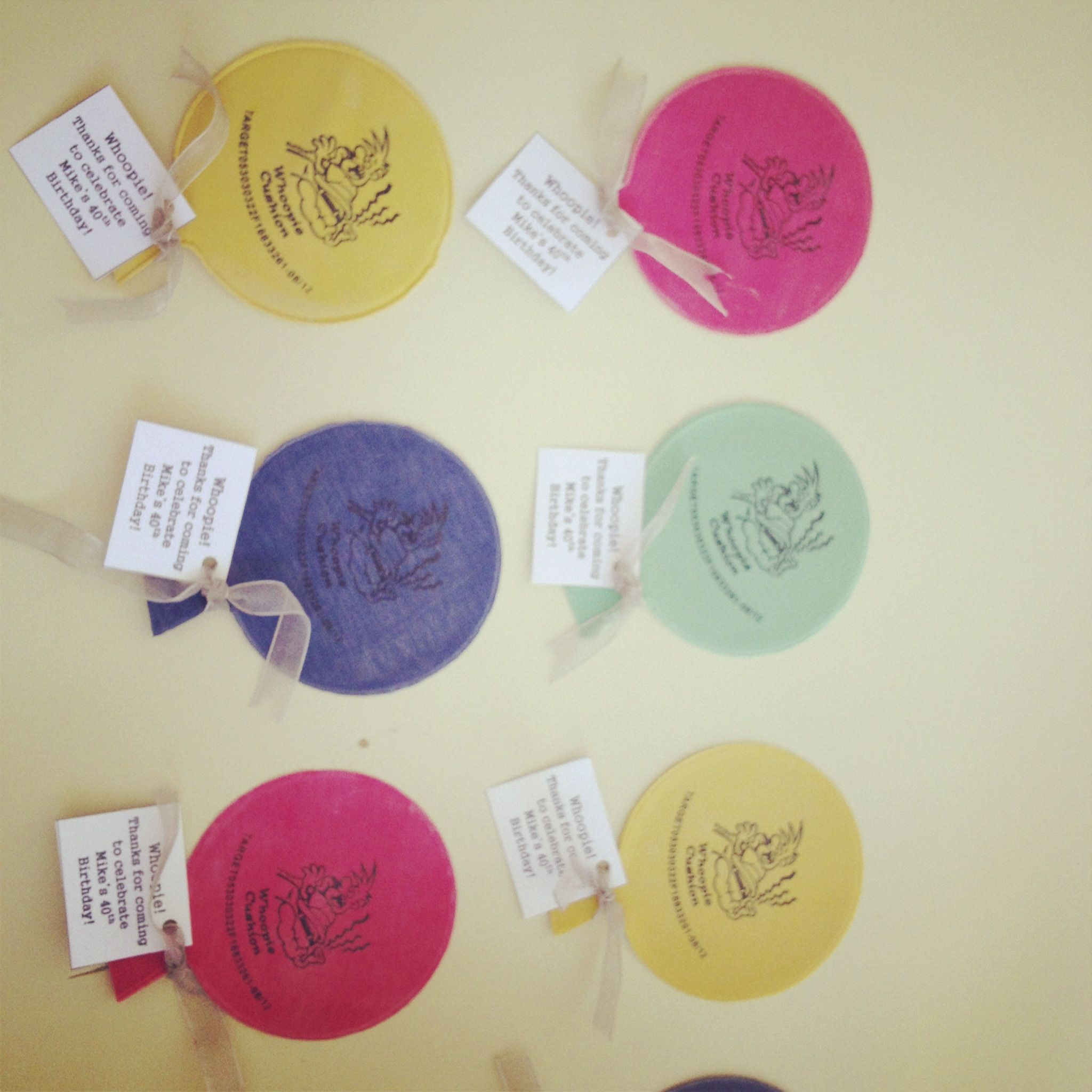 Mini Whoopie Cushion Party Favors For 40Th Birthday Party