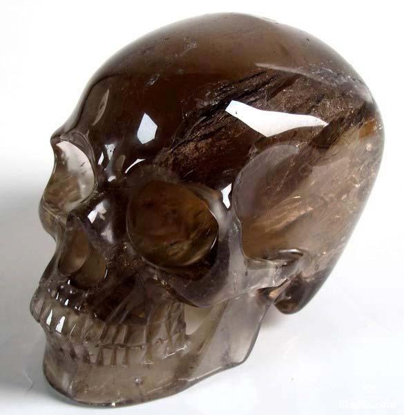 ☆ Smokey Quartz Rock Crystal Skull ☆