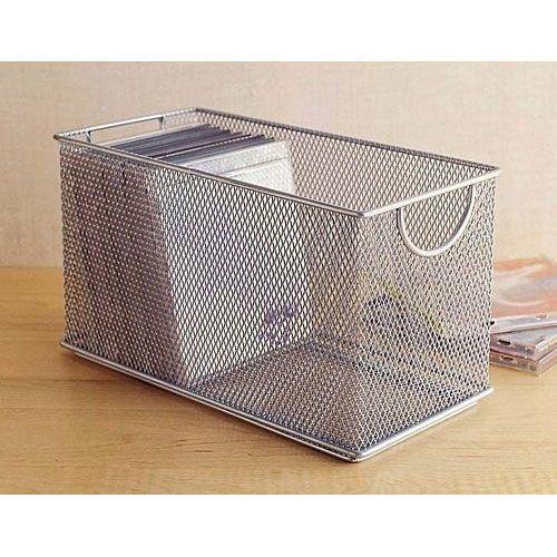 Wire Mesh Storage Bo | Design Ideas Buy The Cd Storage Box In Silver Wire Mesh Here