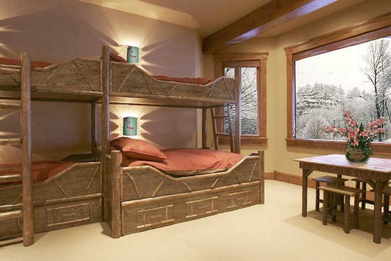 Custom bunk beds for boys unique bunk beds idea for twin egyptian look wooden bed frame - Unique twin bed frames ...