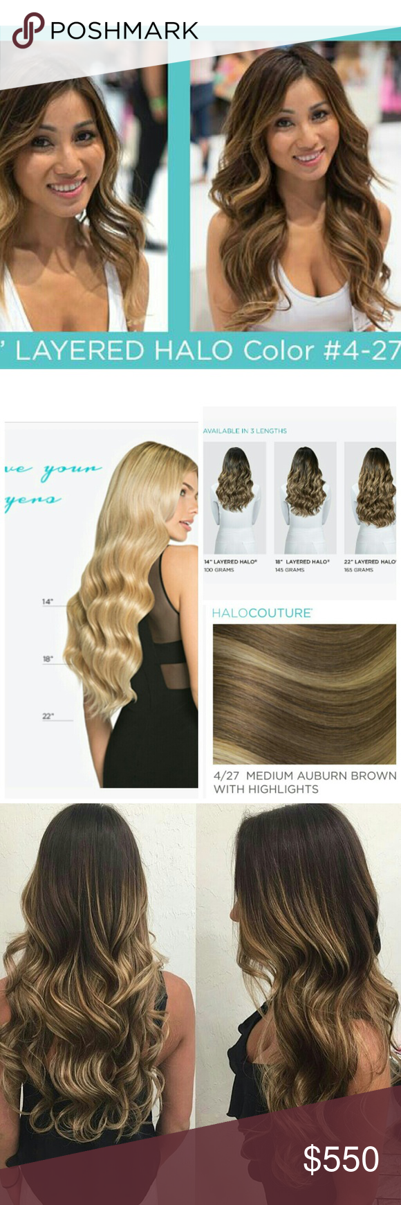 1 Day Sale Halo Couture 22 Inch Layered Extensions Pinterest