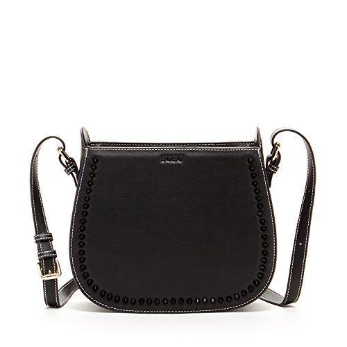 9d13abff664a Black Saddle Bag Purse Studded Handbags For Womens Black Leather ...