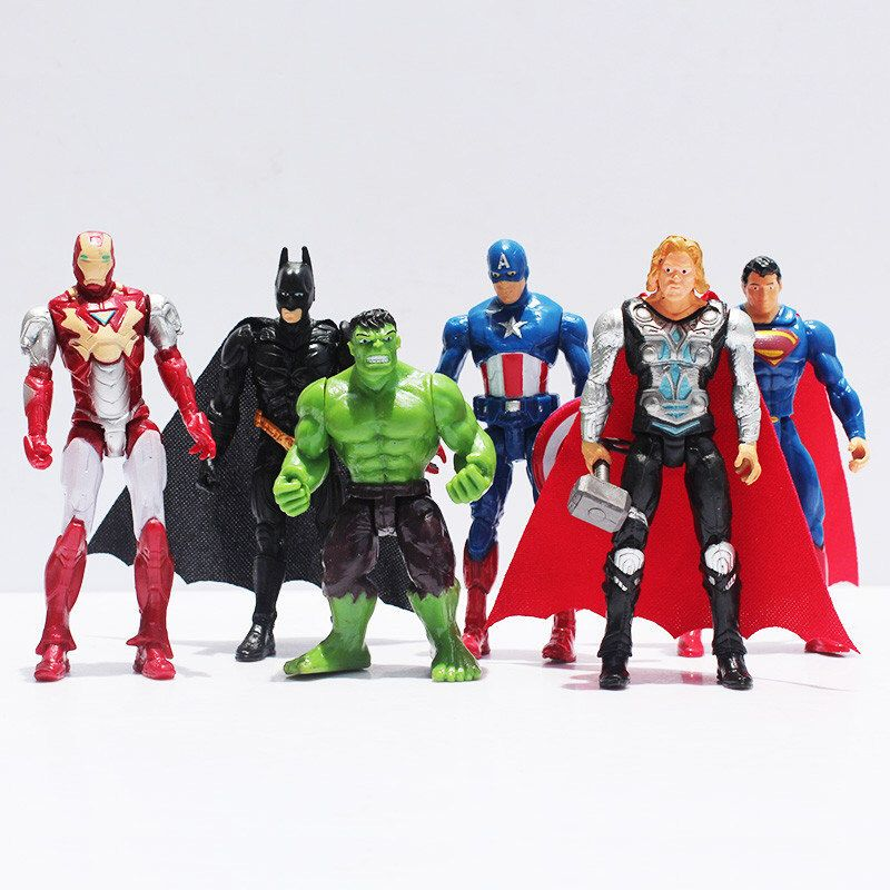 Super Heros Large 4 Birthday Cake Topper Figurines Toy The Avengers