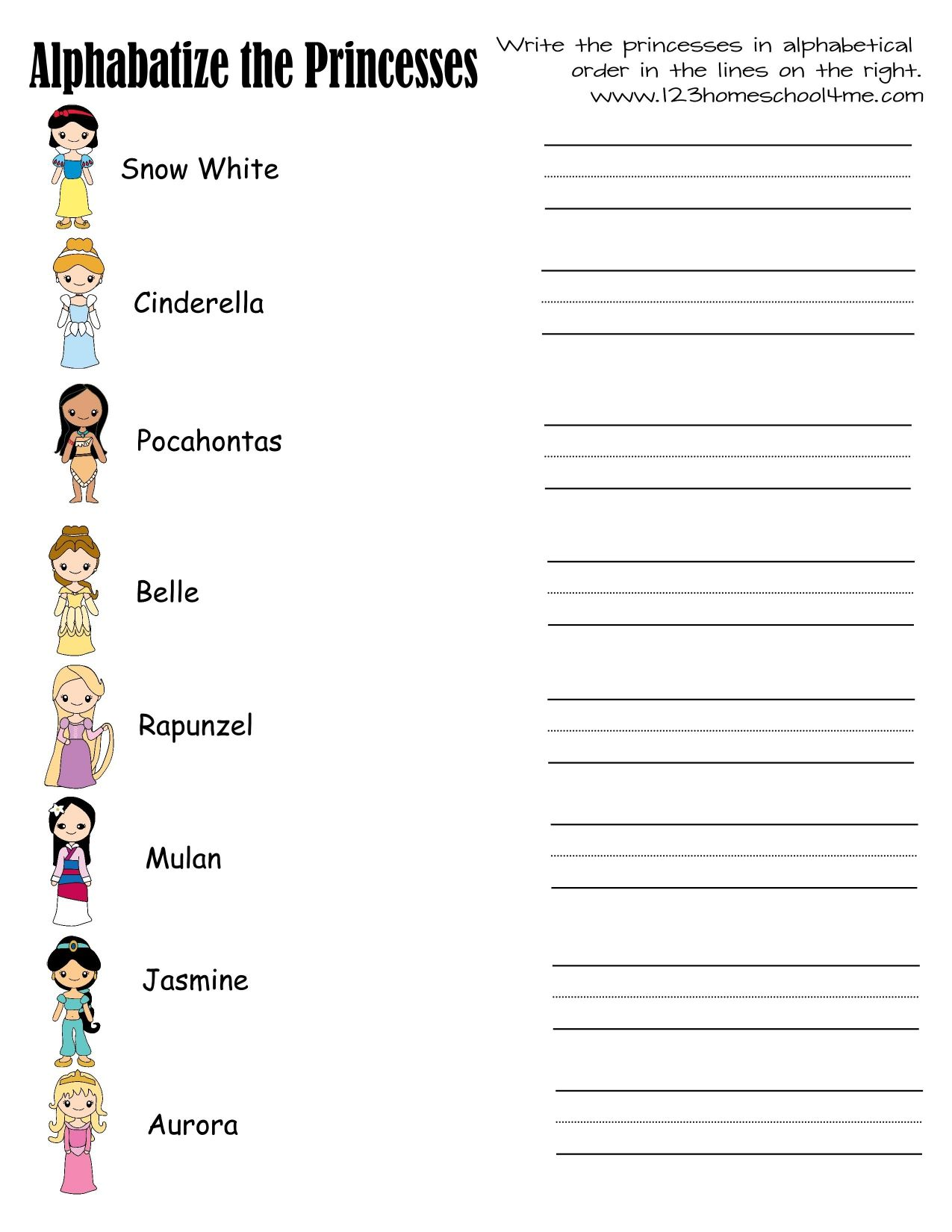 Princess Printables