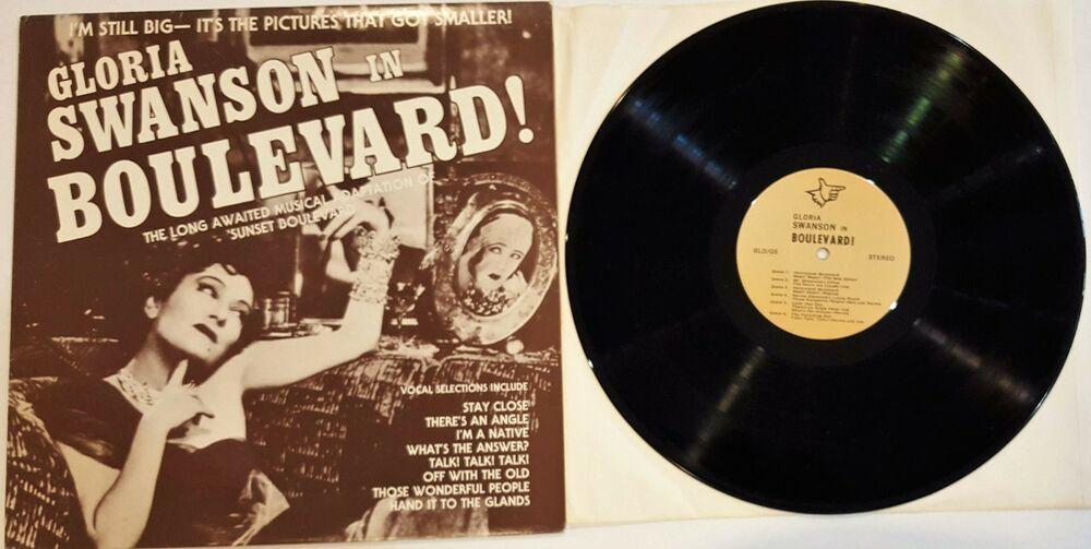 Gloria Swanson Boulevard 12 Vinyl Lp Record 33 Rpm Rare Collector S Historic Vinyl Records Lp Vinyl Old Things