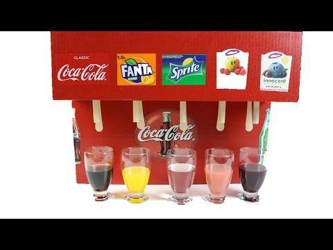 UK/_ Upside Down Drinking Dispenser Machine Soft Drink Fountain for Coke Sprite E