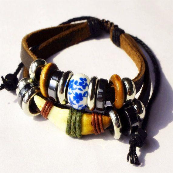 Leather braceletBangle Bracelet Handmade Jewelry by littlemistore, $6.50