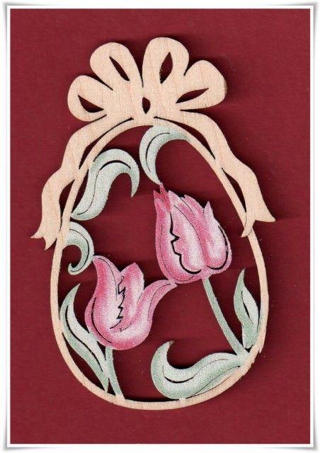 Osterei Osterschmuck Tulpe Color 6 Cm Ostern Holz Deko