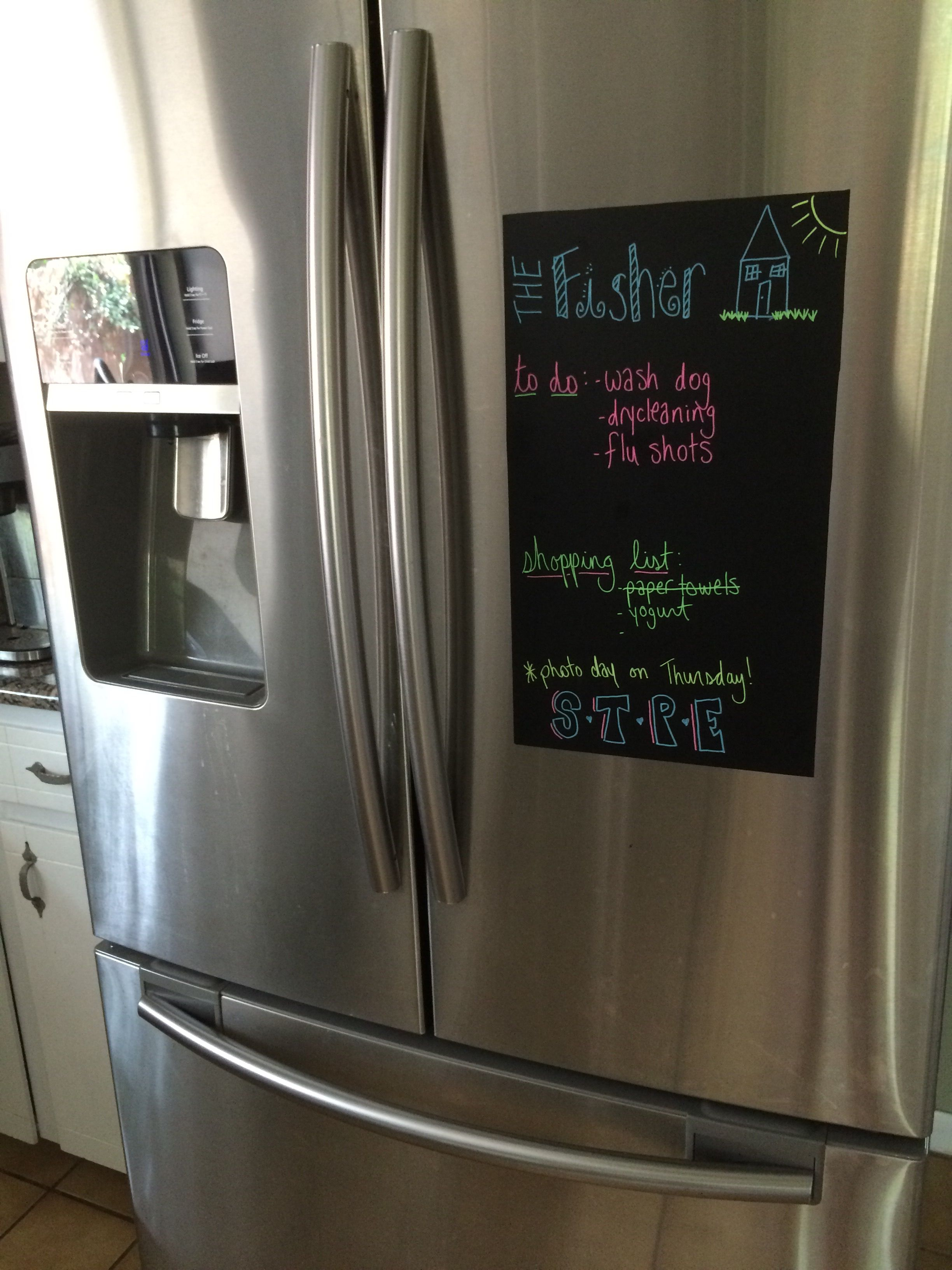 Our Three Year Old Dented Our New Refrigerator And Since It S Stainless Steel You Can T Put A Ma Chalkboard Wall Decal Inexpensive Crafts Hobby Lobby Furniture