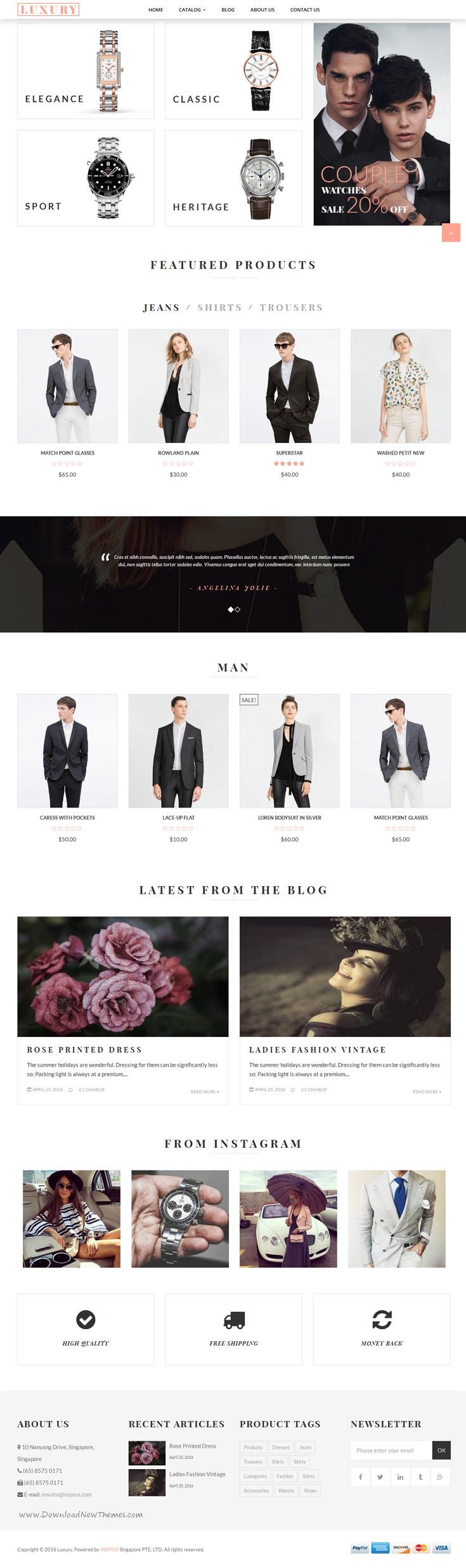 Luxury Responsive Fashion Shopify Theme
