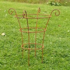 Details About Handcrafted Metal Garden Small Border Plant Support Plant Supports Peony Support Metal Garden Art