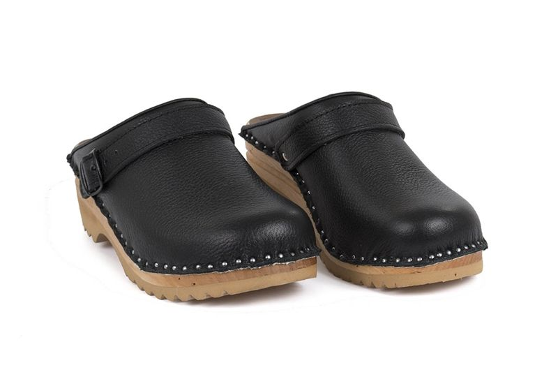 315e8647ff2f Swedish Clog Style in black Leather