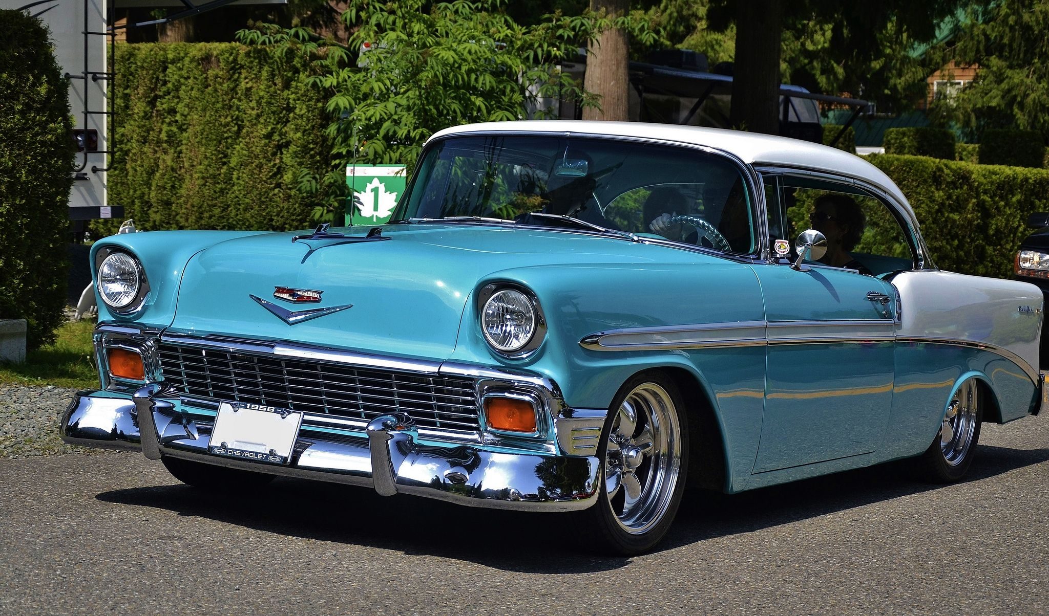 1956 Chevrolet Bel Air Sport Coupe En 2020 Coches Clasicos