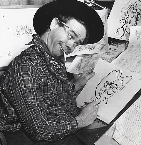 Cartoonist Ward Kimball . He was a lead animator with ...