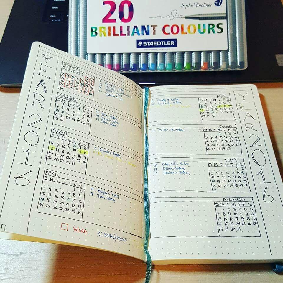 bullet journal future log jahres bersicht bullet journal pinterest journal journal. Black Bedroom Furniture Sets. Home Design Ideas