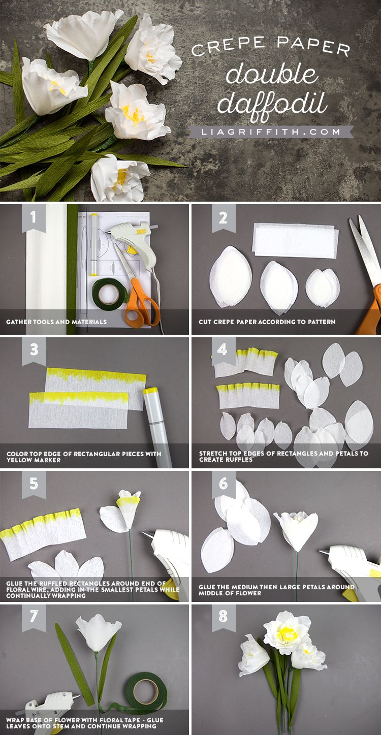 How to make crepe paper double daffodils crepe paper daffodils