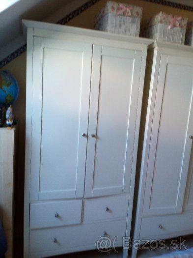 Biele šatníkové skrine IKEA Hemnes – 270 EUR - 1
