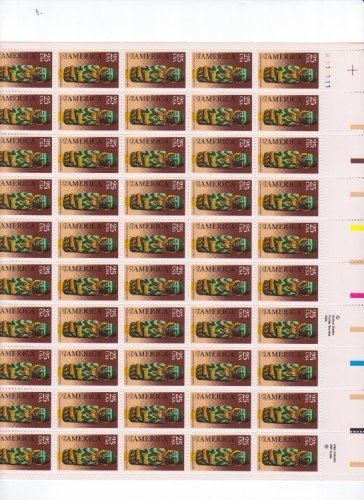 Pre-columbian America Issue Full Sheet of 50 X 25 Cent Us Postage Stamps Scot... by U.S. Mail. $36.00. Pre-columbian America Issue Full Sheet of 50 X 25 Cent Us Postage Stamps Scot...
