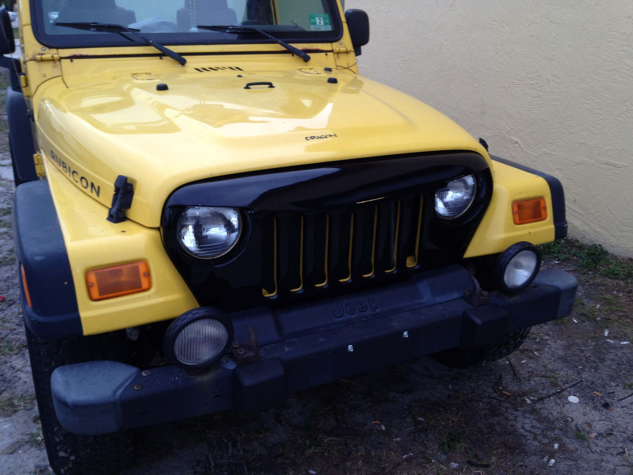 Aggressor Angry Jeep Grill Cover Tj Or Lj Wrangler Grille Black