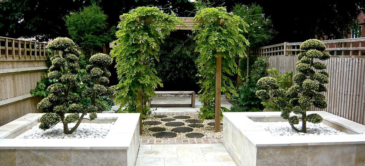 A-small-garden-design-in-a-Zen-Japanese-style-for-a-garden-in ...