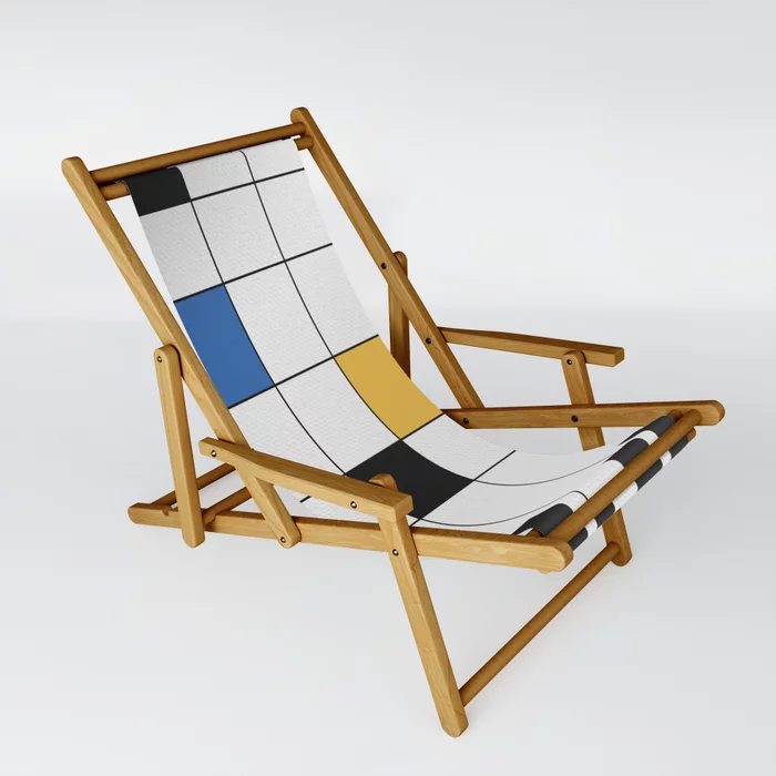 Simple Connections 6 Sling Chair By Fernandovieira Society6 In 2020 Sling Chair Minimalist Window Outdoor Chairs