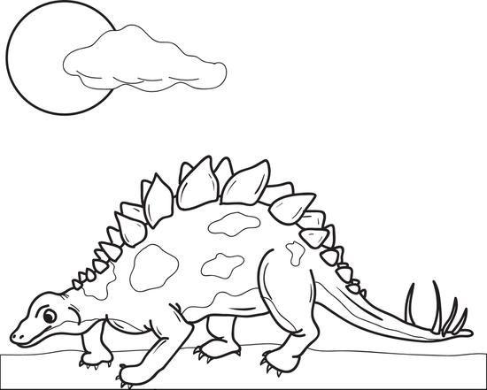 Stegosaurus Dinosaur Coloring Page Dinos Dinosaur Coloring Pages