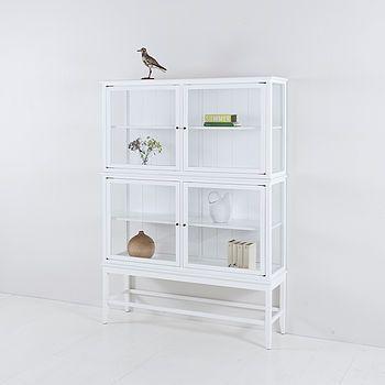 Beau Scandinavian Glass Cabinet