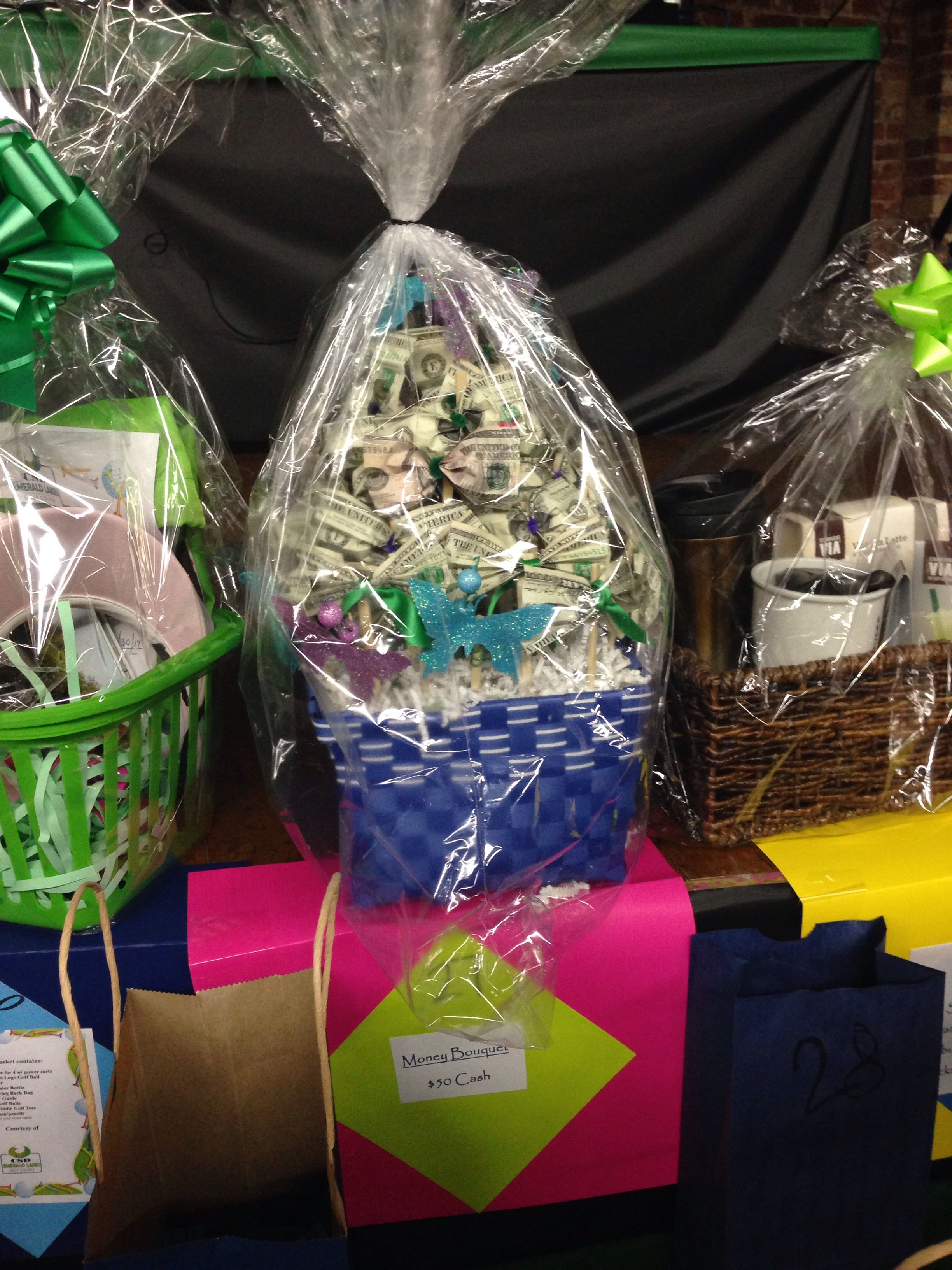 cash basket as a raffle prize  genius