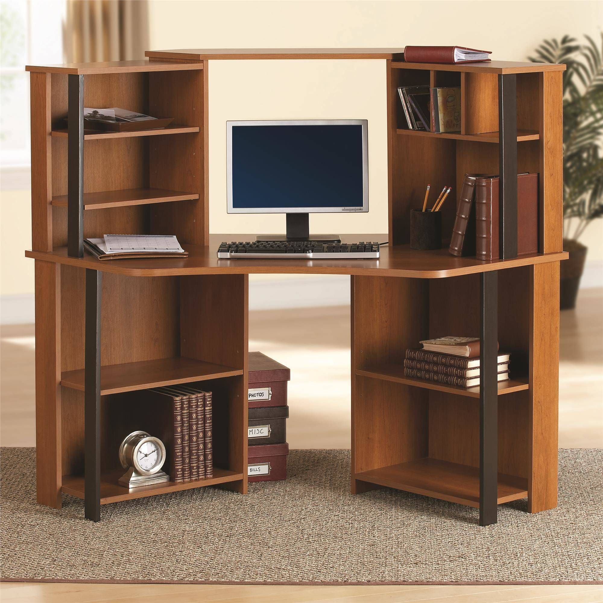 ergonomic small corner study computer desk l wonderful innovation with hutch shaped standing walmart top