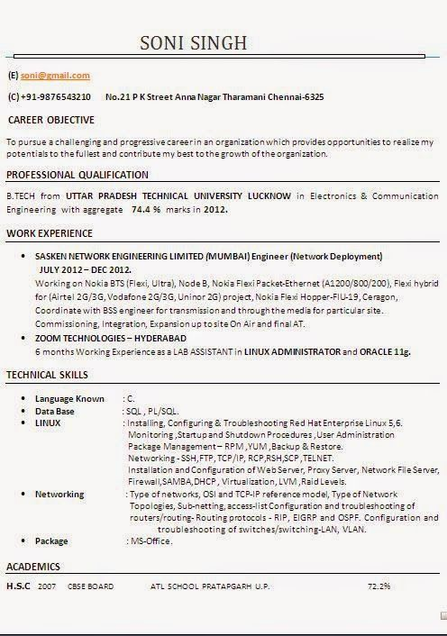 example cv personal statement Sample Template Example ofExcellent - sample personal statement