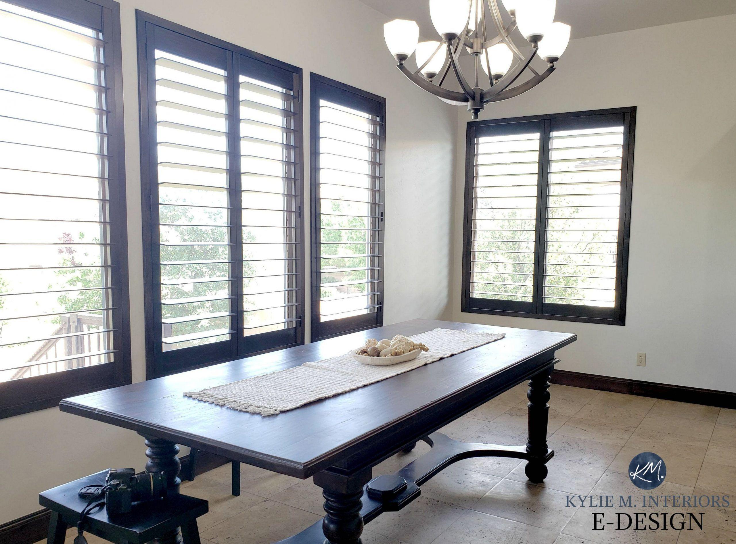 Kylie M Interiors Edesign, dark wood trim and doors. Off white warm creamy greig...#creamy #dark #doors #edesign #greig #interiors #kylie #trim #warm #white #wood