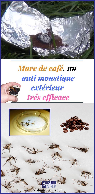 Marc de café, un anti moustique extérieur efficace La