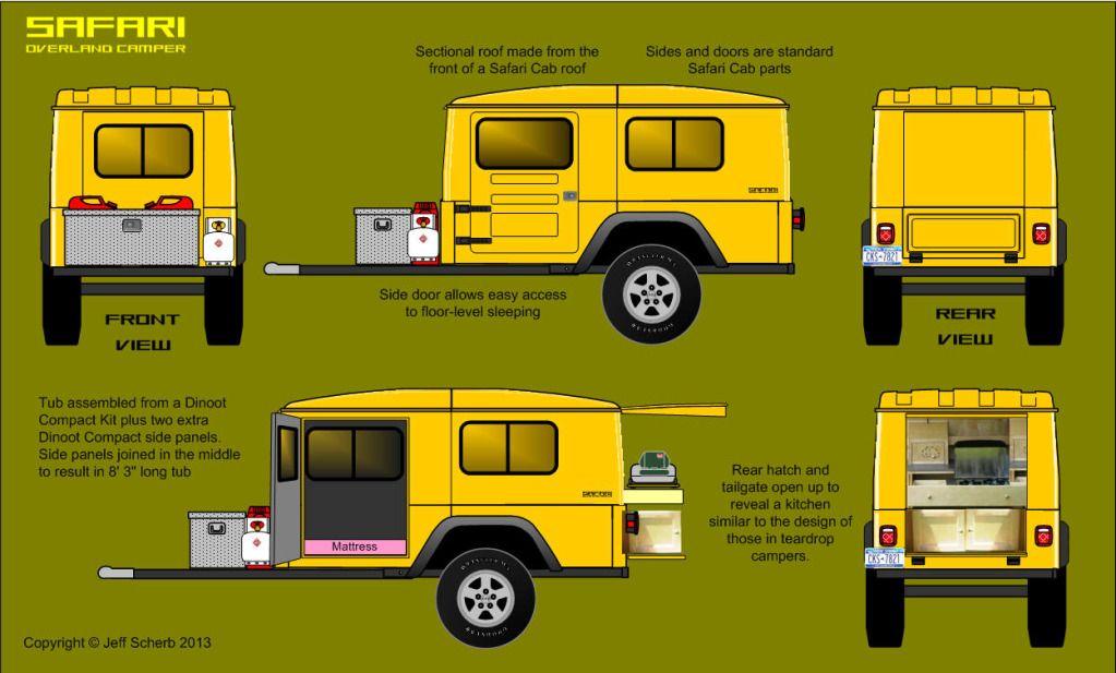 Teardrop Trailer Kit 8 Cubby : Bolt together fiberglass jeep tub trailer kit page