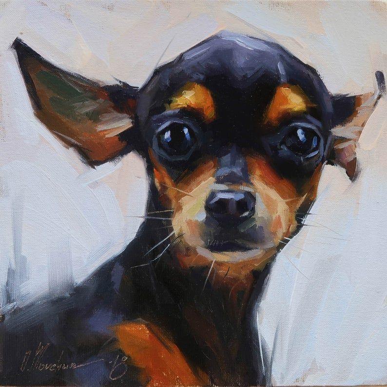 Dog Oil Portrait, Pet Oil Painting, Dog Artwork , Costom
