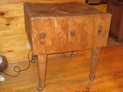 Antique Maple Butcher Block Was 925 00