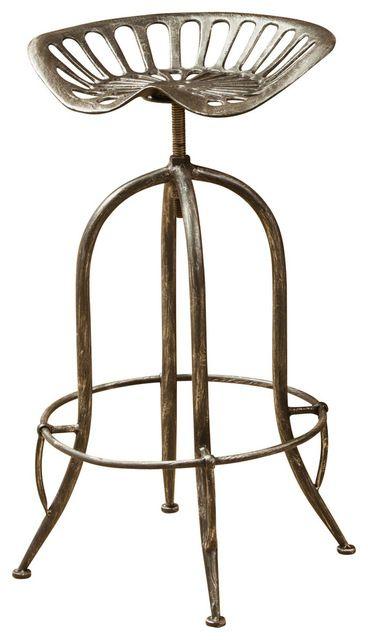 Super Aldean Industrial Design Metal Tractor Adjustable Height Ibusinesslaw Wood Chair Design Ideas Ibusinesslaworg