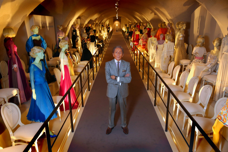 Valentino exhibit in Paris.