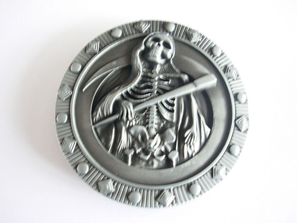 Grim Reaper Metal Fashion Belt Buckle