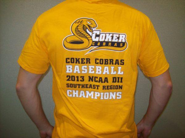 Baseball Championship Tee Coker College Bookstore Mens Tops Mens Tshirts Mens Graphic Tshirt