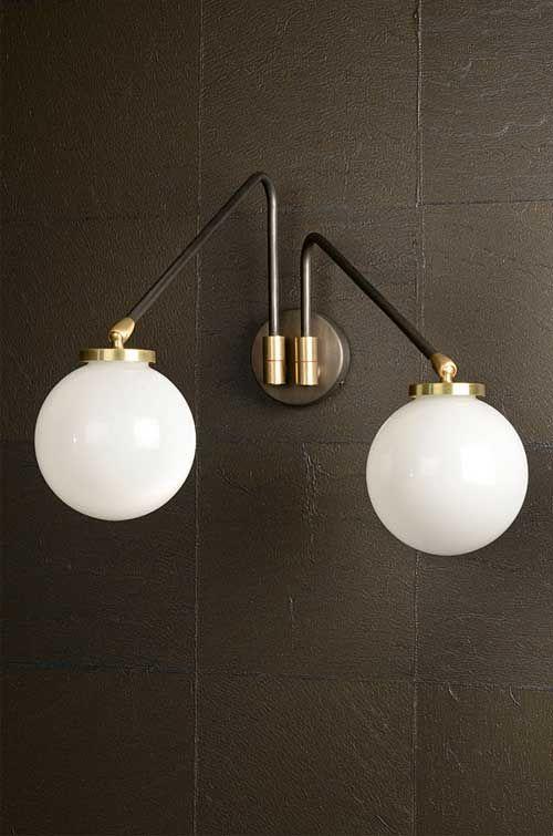 CTO Lighting Array Twin Opal Wall Light | Nielsen House Shop