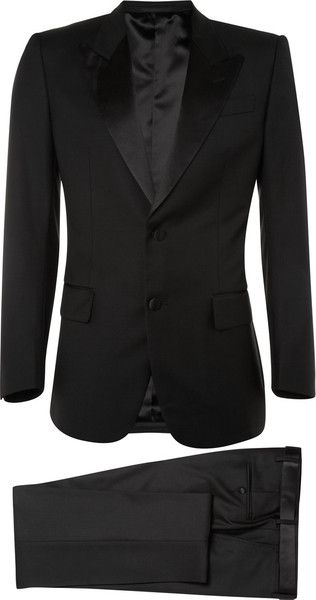 02cd6456a92 YSL Classic Tuxedo Suit | Fashion-True Black | Tuxedo for men ...