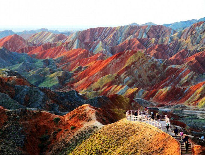 Zhangye Danxia Landform, Gansu, China - 25 Insanely Breathtaking - land form