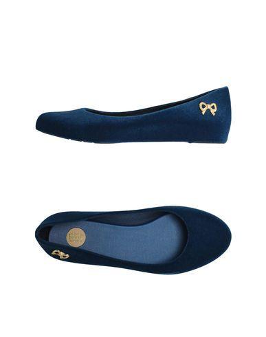 Melissa Women - Footwear - Ballet flats Melissa on YOOX $59, blue flocked flats