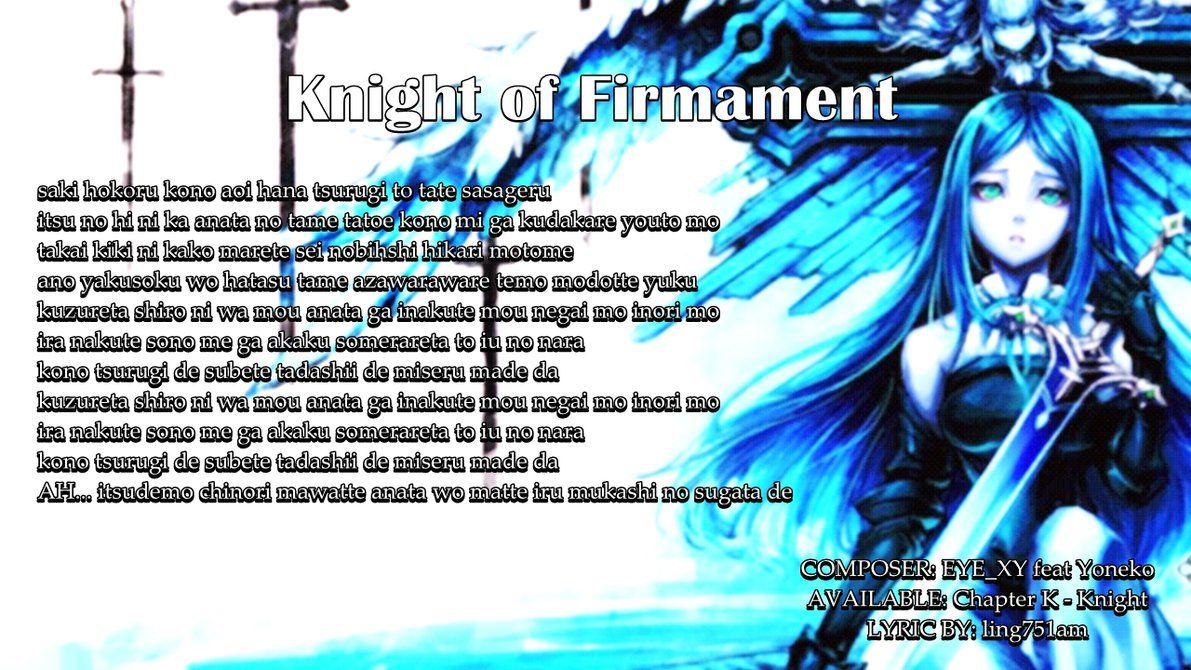 [CYTUS LYRICS] Knight of Firmament by christopherandy