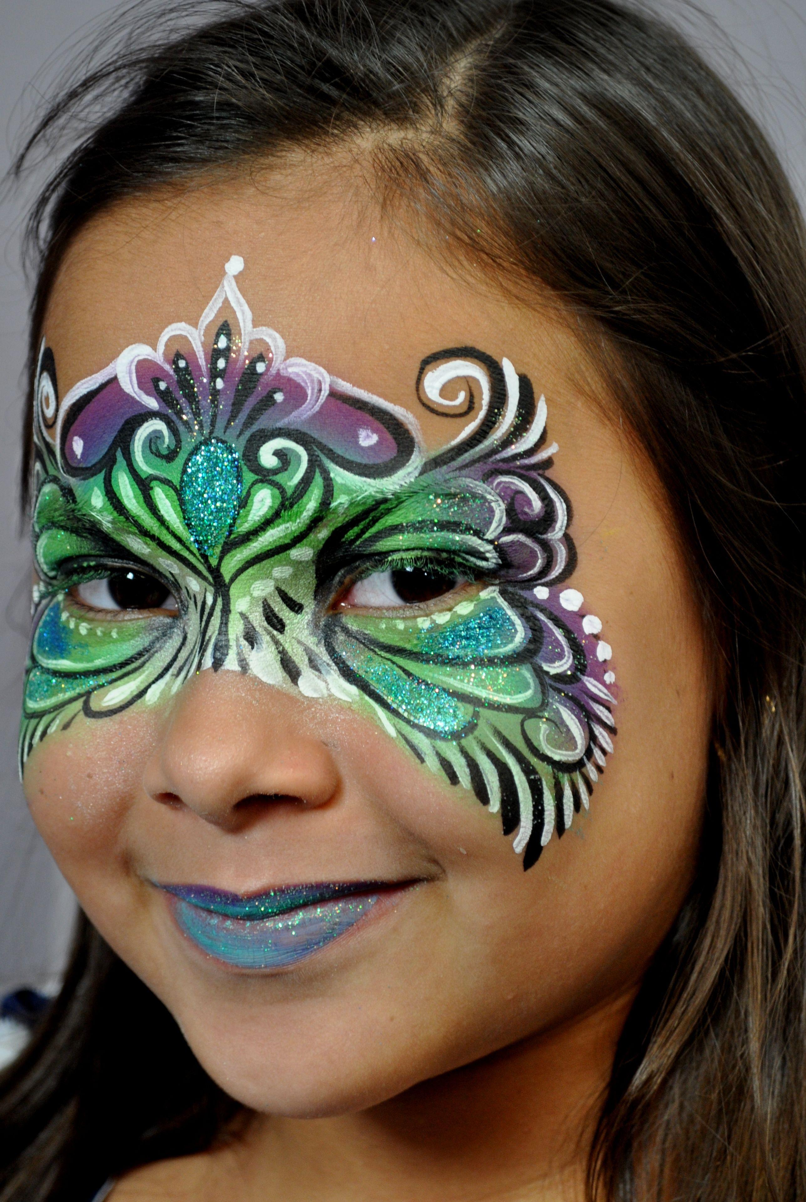 Beautiful Face Painting Mask. Paint Mask Design