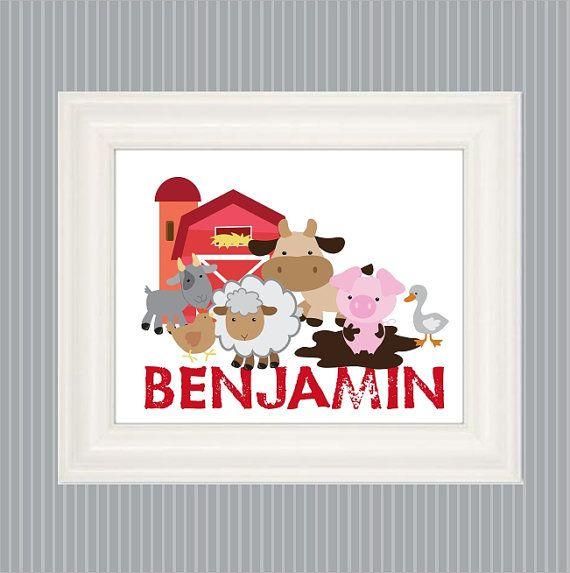 Farm Poster So Cute For Your Barnyard Nursery Or Farm Themed Bedroom Any Farm Animal Crazy Kid Wi Farm Bedroom Decor Farm Animal Nursery Nursery Animal Prints
