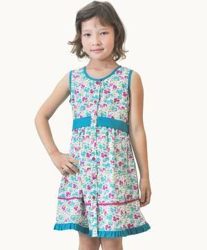 Fair Trade Designer Clothing | Pansy Pop Fit Flare Dress Girls Clothes Fair Trade Pinterest