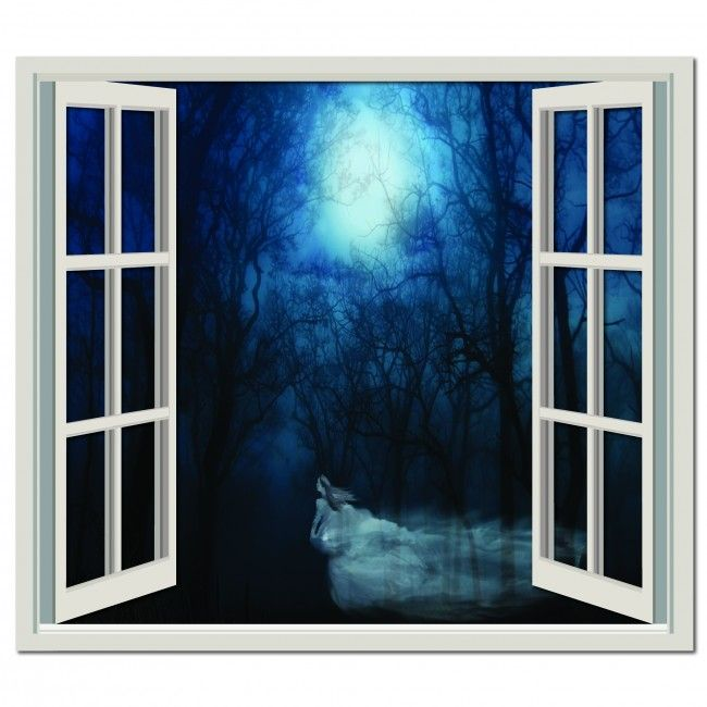 Haunted Forest Wall Sticker Window Wall Decal